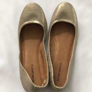 Mossimo Gold Metallic Ballet Flats